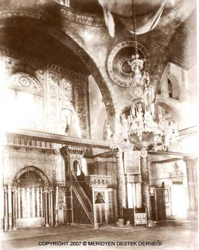 Al-Aqsa Mosque, interior view (1880)