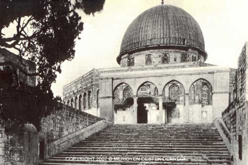 Dome of the Rock, exterior west view from the west