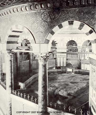 Dome of the Rock, interior view (1905)