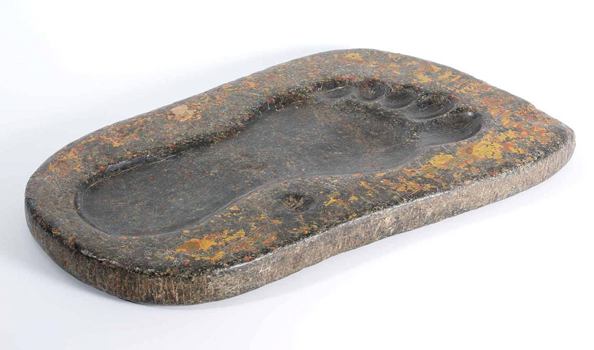 Footprint (L) of the Prophet Muhammad